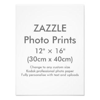 """Personalizado 12"""" de Zazzle × 16"""" plantilla de la Fotografías"""