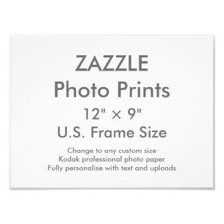 """Personalizado 12"""" de Zazzle × 9"""" tamaño de Fotografías"""