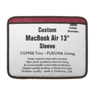 """Personalizado 13"""" café y Fuschia de la manga de Funda Para Macbook Air"""