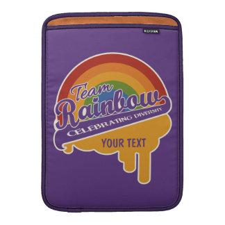 "Personalizado 13"" del arco iris del equipo manga d funda  MacBook"