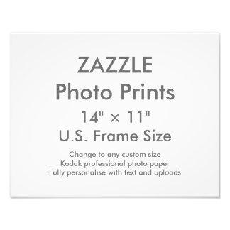 """Personalizado 14"""" de Zazzle × 11"""" tamaño de Fotografías"""