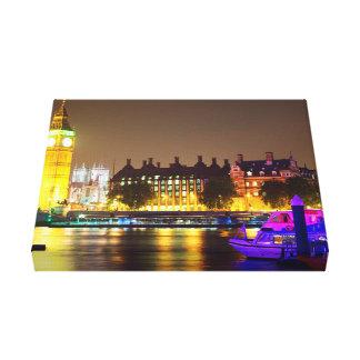 """Personalizado 14"""" del río de Londres X 11"""" lona de Impresion En Lona"""