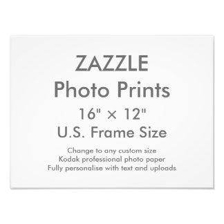 """Personalizado 16"""" de Zazzle × 12"""" tamaño de Fotografía"""