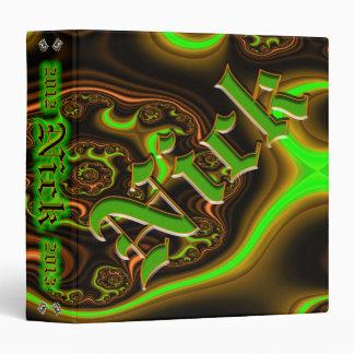 """Personalizado 1,5"""" de Nick del fractal carpeta de"""