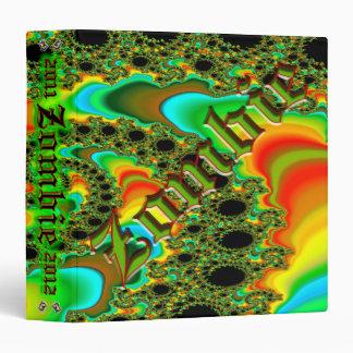 """Personalizado 1,5"""" del zombi del fractal carpeta d"""