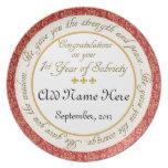 Personalizado 1 año de placa del aniversario de la plato