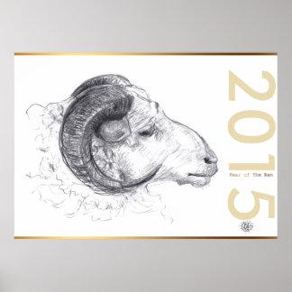 Personalizado 2015 años del poster de las ovejas o