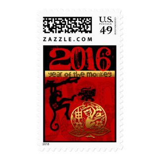 Personalizado 2016 años del Año Nuevo chino P del Sello Postal
