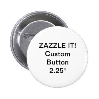 """Personalizado 2,25"""" plantilla en blanco del Pin de"""