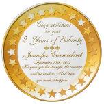Personalizado 2 años de placa del aniversario de plato de cerámica