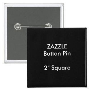 """Personalizado 2"""" de ZAZZLE NEGRO cuadrado del Pin"""