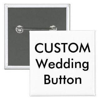 """Personalizado 2"""" del boda Pin cuadrado del botón"""