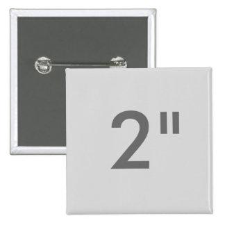 """Personalizado 2"""" GRIS cuadrado de la plantilla del Pin Cuadrado"""
