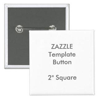 """Personalizado 2"""" plantilla en blanco del Pin de la Pin Cuadrada 5 Cm"""