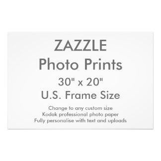 """Personalizado 30"""" de Zazzle x 20"""" tamaño de Cojinete"""