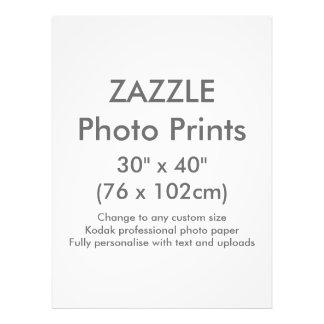 """Personalizado 30"""" de Zazzle x 40"""" plantilla de la Cojinete"""