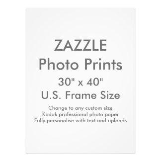 """Personalizado 30"""" de Zazzle x 40"""" tamaño de Fotografías"""