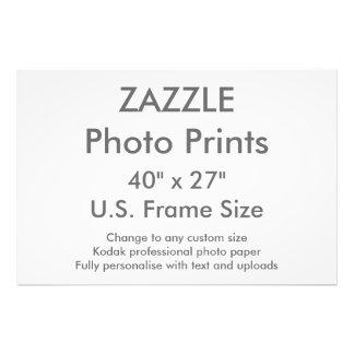 """Personalizado 40"""" de Zazzle x 27"""" tamaño de Fotografías"""