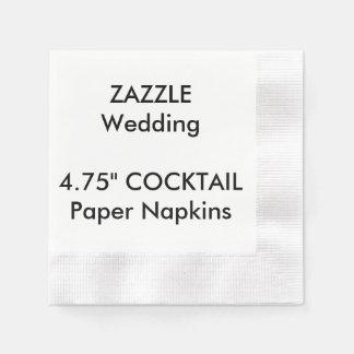"""Personalizado 4,75"""" servilletas de papel"""