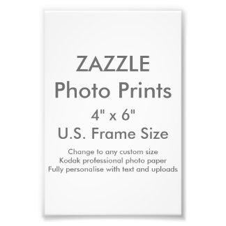 """Personalizado 4"""" de Zazzle x 6"""" impresión de la Fotografía"""