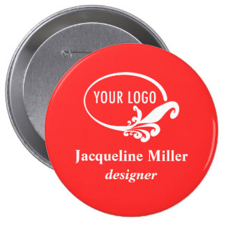 """Personalizado 4"""" Pin conocido enorme del botón"""