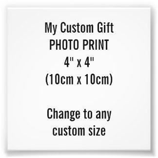 """Personalizado 4"""" x 4"""" plantilla de la impresión de fotografía"""