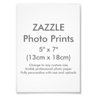 """Personalizado 5"""" de Zazzle x 7"""" plantilla de la Cojinete"""