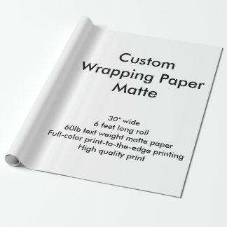 Personalizado 6' rollo mate del papel de embalaje papel de regalo