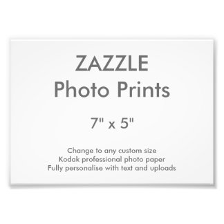 """Personalizado 7"""" de Zazzle x 5"""" impresión 18 x 13 Fotografía"""