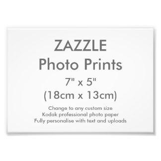 """Personalizado 7"""" de Zazzle x 5"""" plantilla de la Fotografías"""