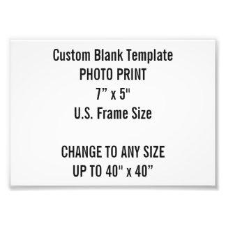 """Personalizado 7"""" x 5"""" impresión de la foto (tamaño fotografías"""
