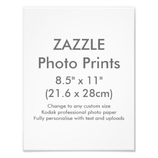 """Personalizado 8,5"""" de Zazzle x 11"""" plantilla de la Fotografías"""