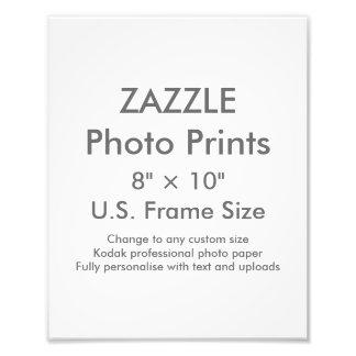 """Personalizado 8"""" de Zazzle × 10"""" impresión de la Fotografías"""