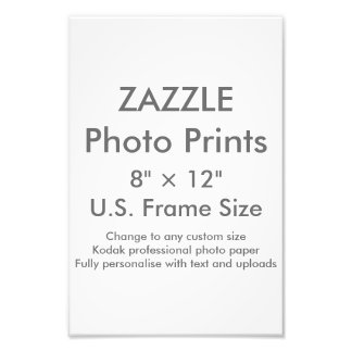 """Personalizado 8"""" de Zazzle × 12"""" impresión de la Cojinete"""