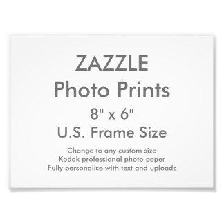"""Personalizado 8"""" de Zazzle x 6"""" plantilla de la Fotografía"""