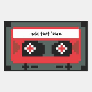 Personalizado 8 pegatinas de la cinta de casete pegatina rectangular