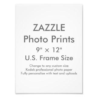 """Personalizado 9"""" de Zazzle × 12"""" tamaño de Fotografía"""