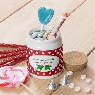 Personalizado: Acebo del navidad: Tarro del Platos Para Caramelos