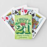 Personalizado afortunado 21 baraja