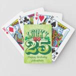 Personalizado afortunado 25 barajas de cartas