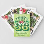 Personalizado afortunado 36 baraja de cartas