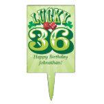 Personalizado afortunado 36 decoración para tarta