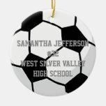Personalizado alrededor de balón de fútbol se ornamentos para reyes magos
