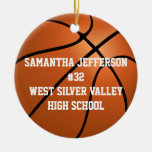 Personalizado alrededor de baloncesto se divierte ornamentos de reyes