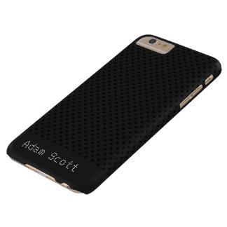 Personalizado alrededor de la fibra de carbono de funda de iPhone 6 plus barely there