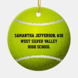 Personalizado alrededor de pelota de tenis se adorno