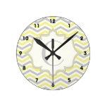 Personalizado amarillo, gris, de marfil moderno de relojes de pared
