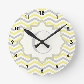 Personalizado amarillo gris de marfil moderno de relojes de pared