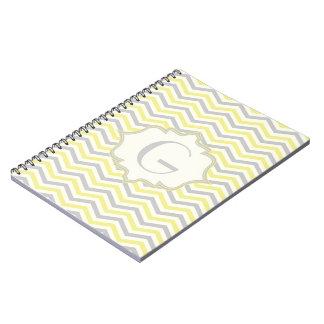Personalizado amarillo, gris, de marfil moderno de spiral notebook