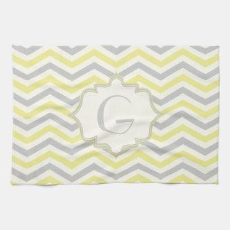 Personalizado amarillo, gris, de marfil moderno de toallas de cocina